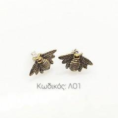 Schmuck LO1 Handgefertigte Ohrringe mit Silber Biene