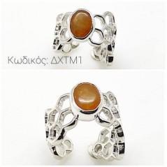 Κόσμημα ΔΧΤΜ1 Χειροποίητο δαχτυλίδι σε Ασήμι